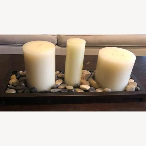 Used Unscented Wax Pillar Candle for sale on AptDeco