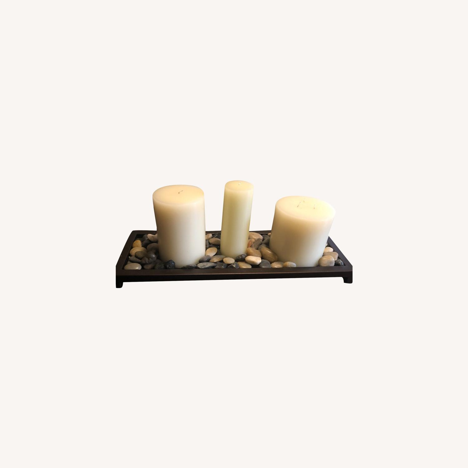 Unscented Wax Pillar Candle - image-0