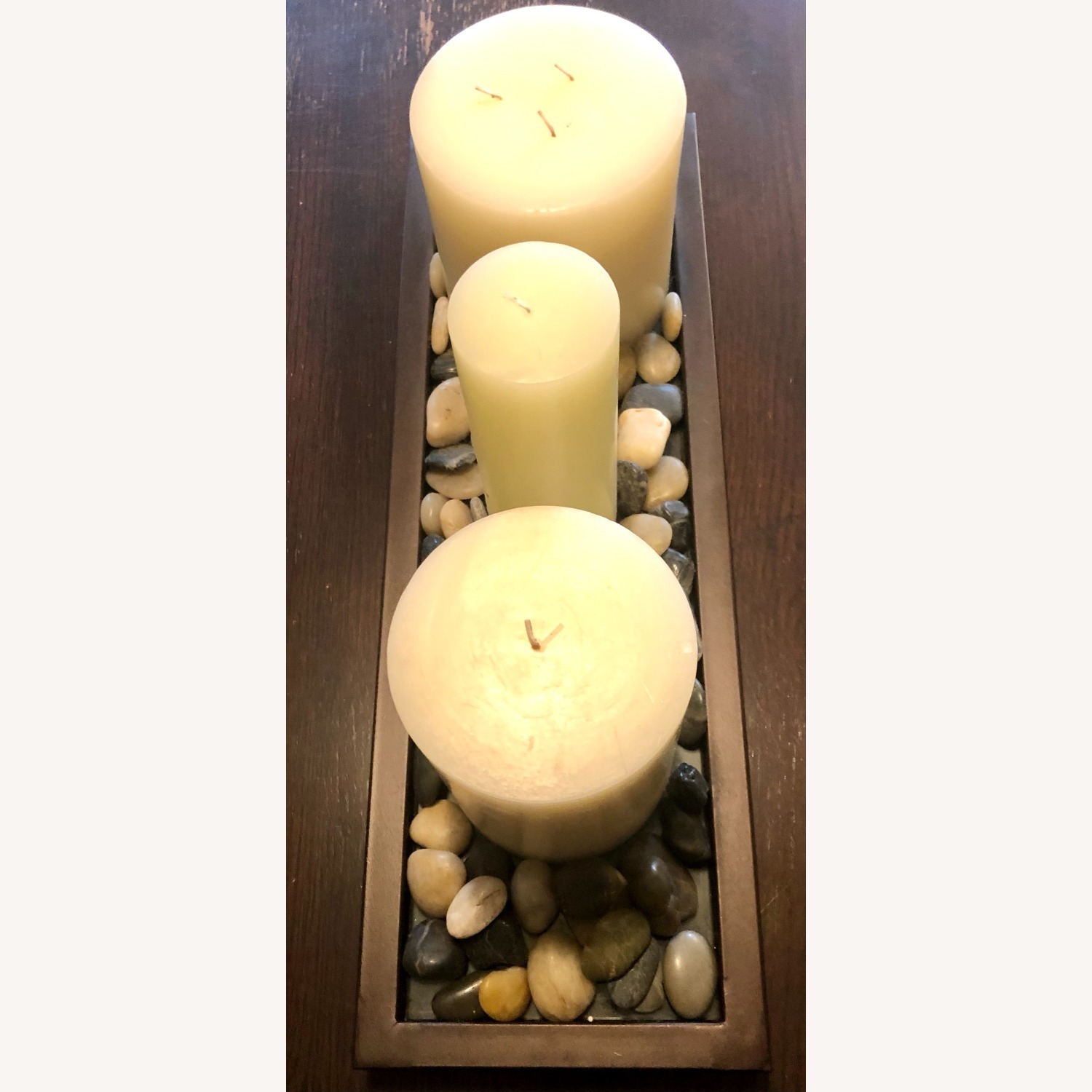 Unscented Wax Pillar Candle - image-2