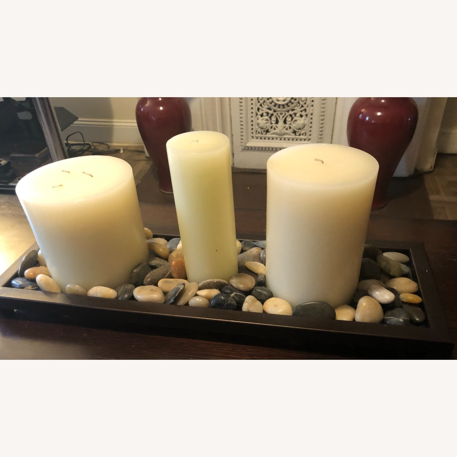 Unscented Wax Pillar Candle - image-4