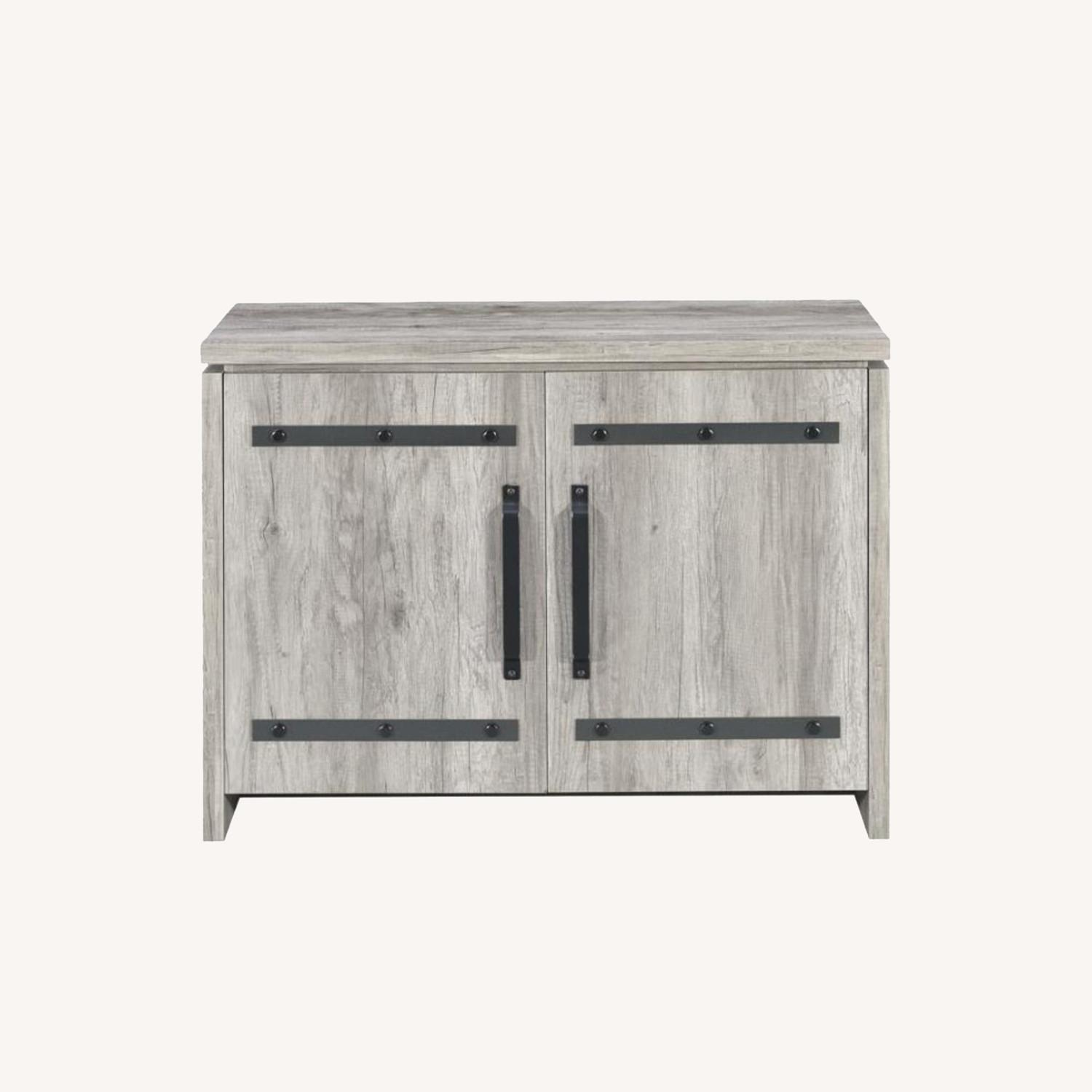 Accent Cabinet In Grey Driftwood Finish - image-7
