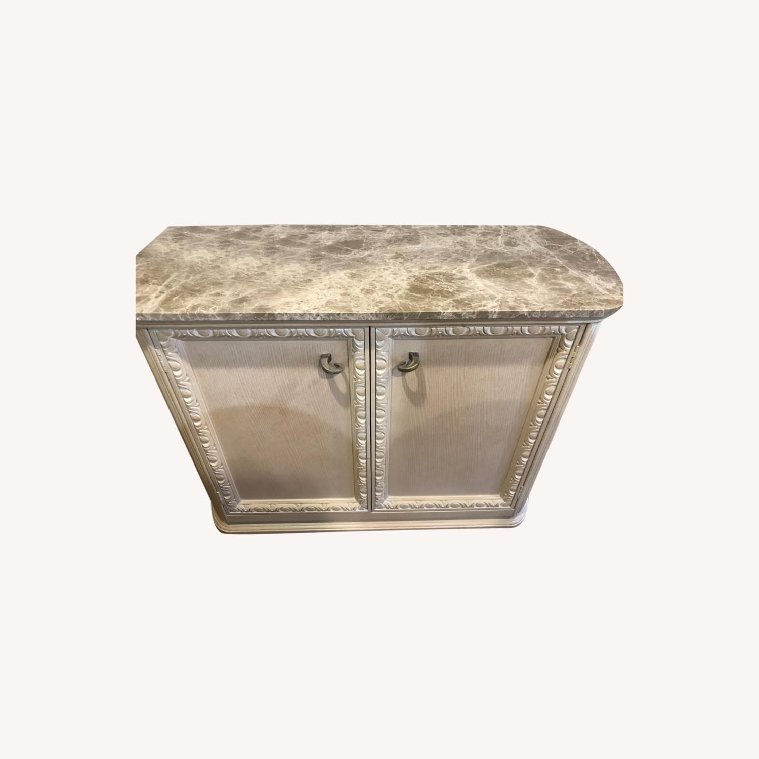 Century Furniture Bar with Marble Top - image-0