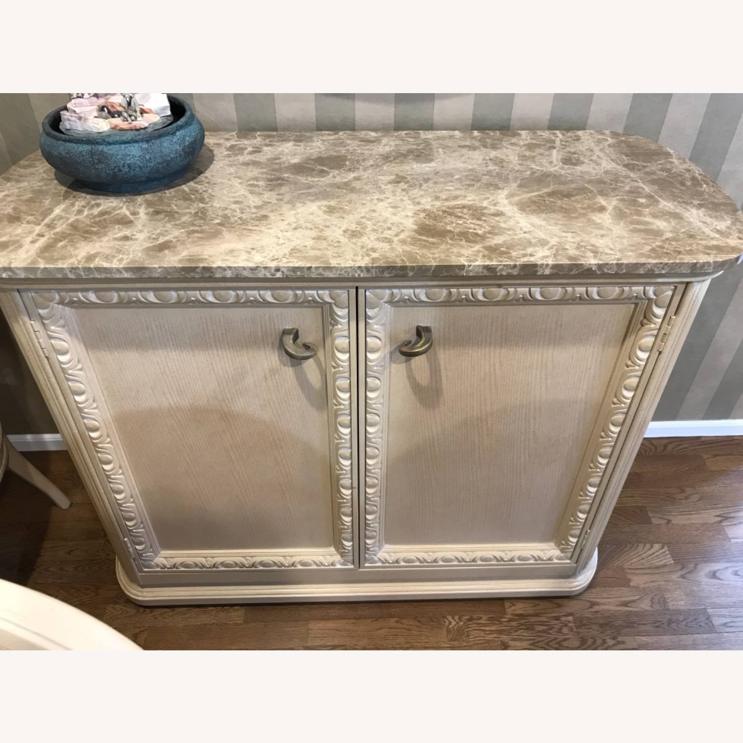 Century Furniture Bar with Marble Top - image-1