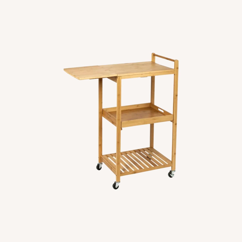 "Wayfair Enrique 38"" Bamboo Kitchen Cart - image-0"