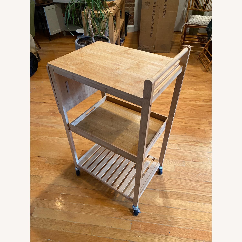"Wayfair Enrique 38"" Bamboo Kitchen Cart - image-1"