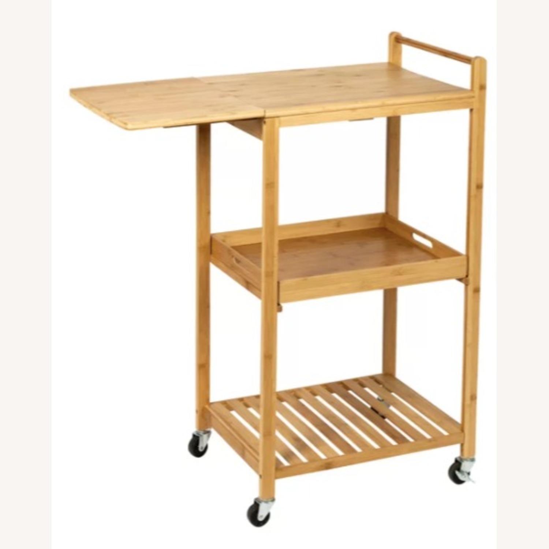 "Wayfair Enrique 38"" Bamboo Kitchen Cart - image-3"