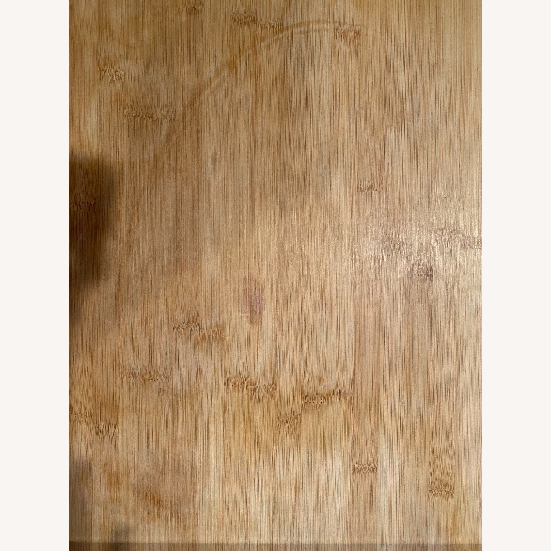 "Wayfair Enrique 38"" Bamboo Kitchen Cart - image-4"