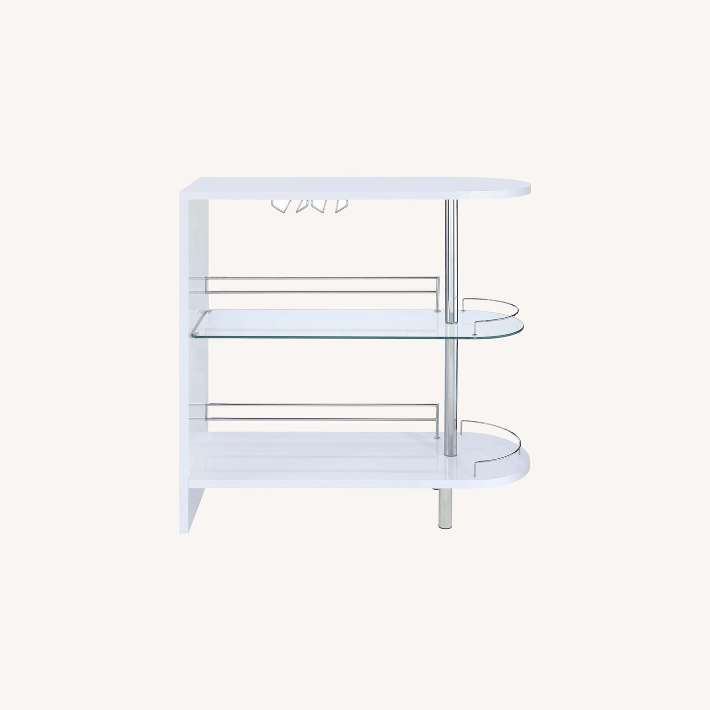 Bar Unit In White High Gloss Finish - image-6