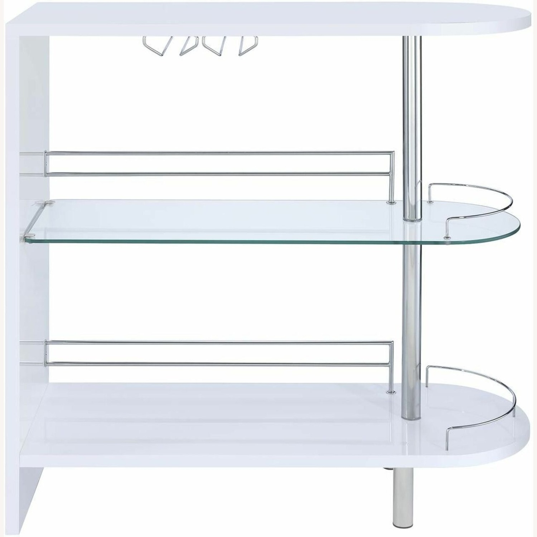 Bar Unit In White High Gloss Finish - image-1