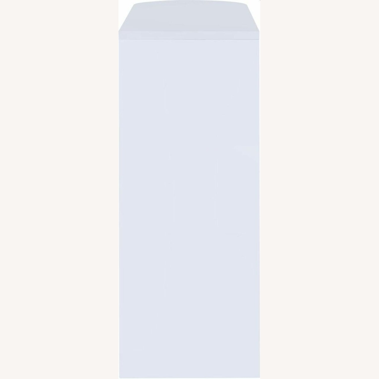 Bar Unit In White High Gloss Finish - image-3