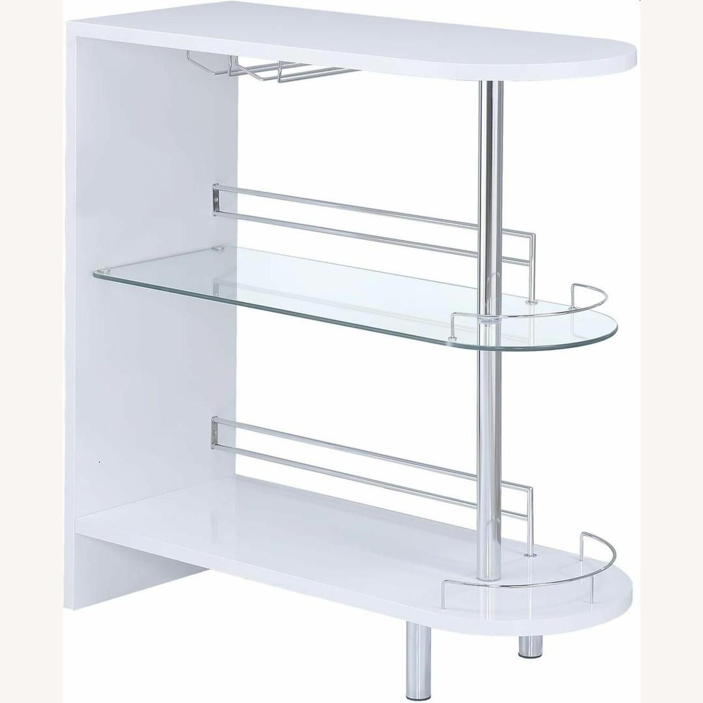 Bar Unit In White High Gloss Finish - image-0