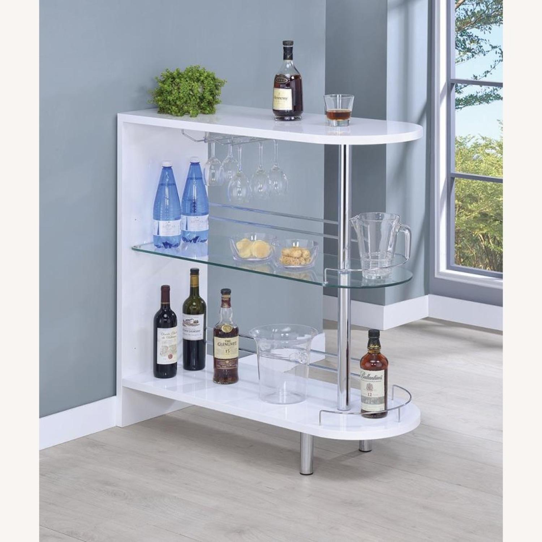 Bar Unit In White High Gloss Finish - image-4