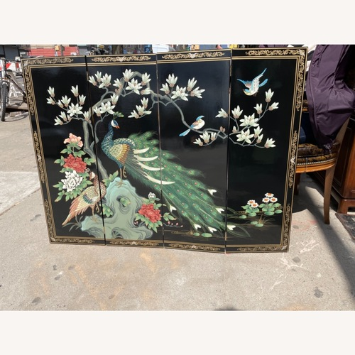 Used Vintage Chinese Lacquer Home Decor /Mini Divider for sale on AptDeco