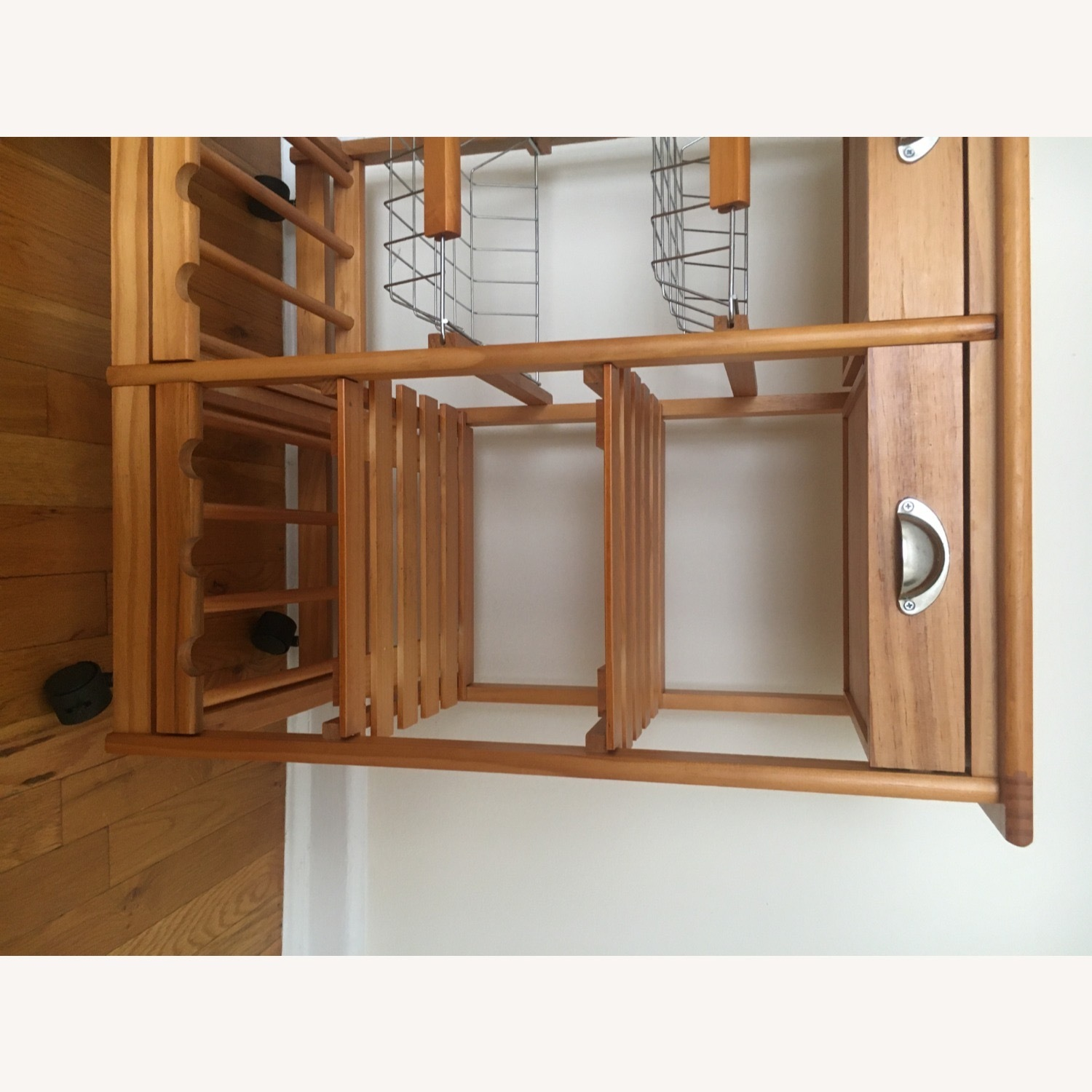 Kitchen Cart and Wine Rack - image-8