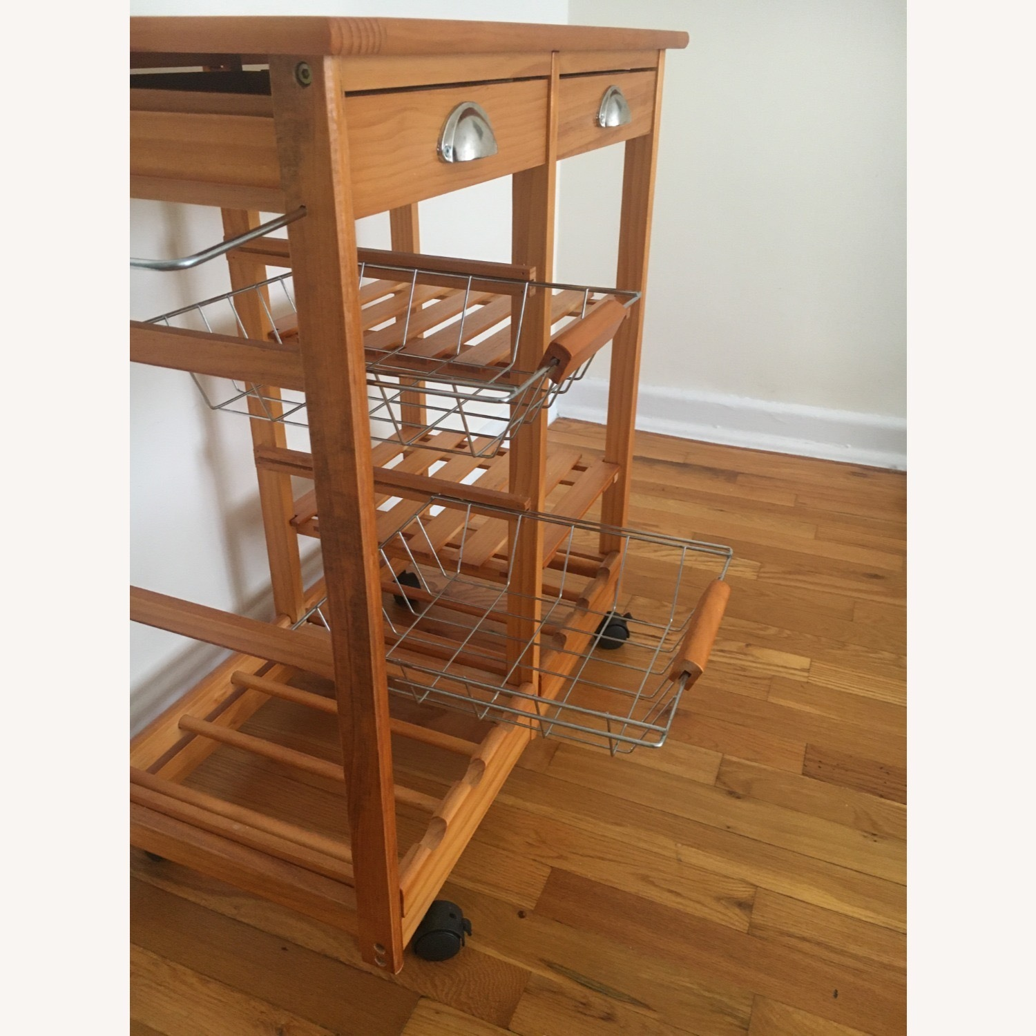 Kitchen Cart and Wine Rack - image-4