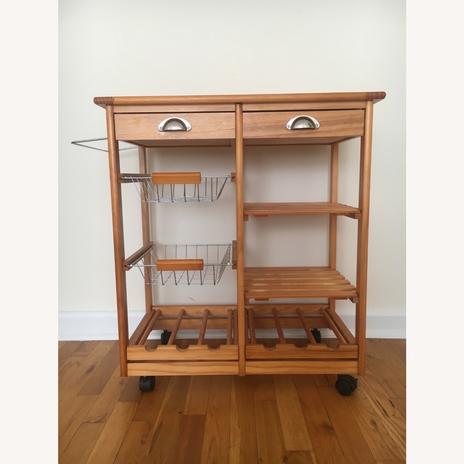 Kitchen Cart and Wine Rack - image-11