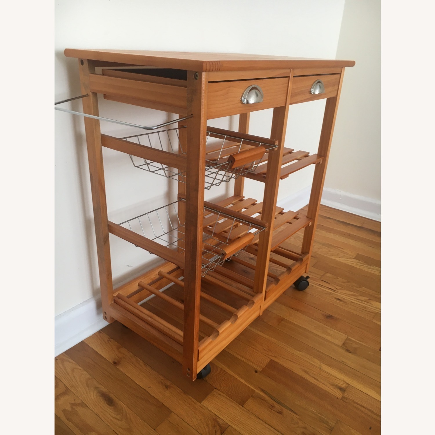Kitchen Cart and Wine Rack - image-2
