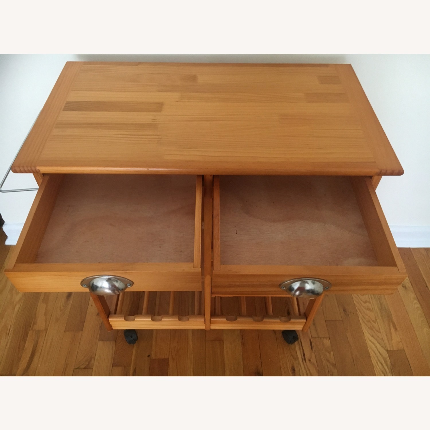 Kitchen Cart and Wine Rack - image-3
