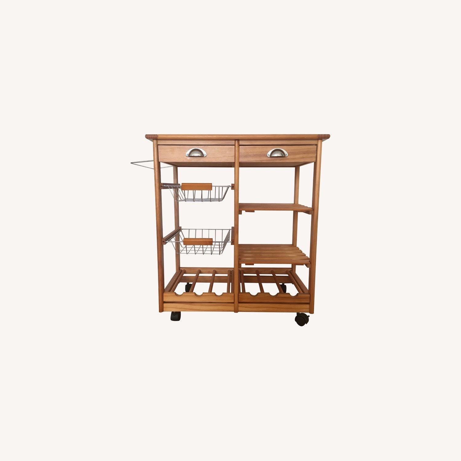 Kitchen Cart and Wine Rack - image-0