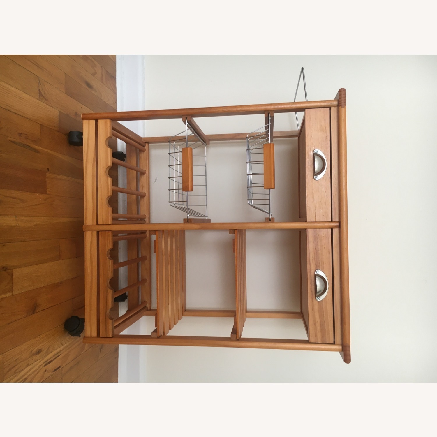 Kitchen Cart and Wine Rack - image-9