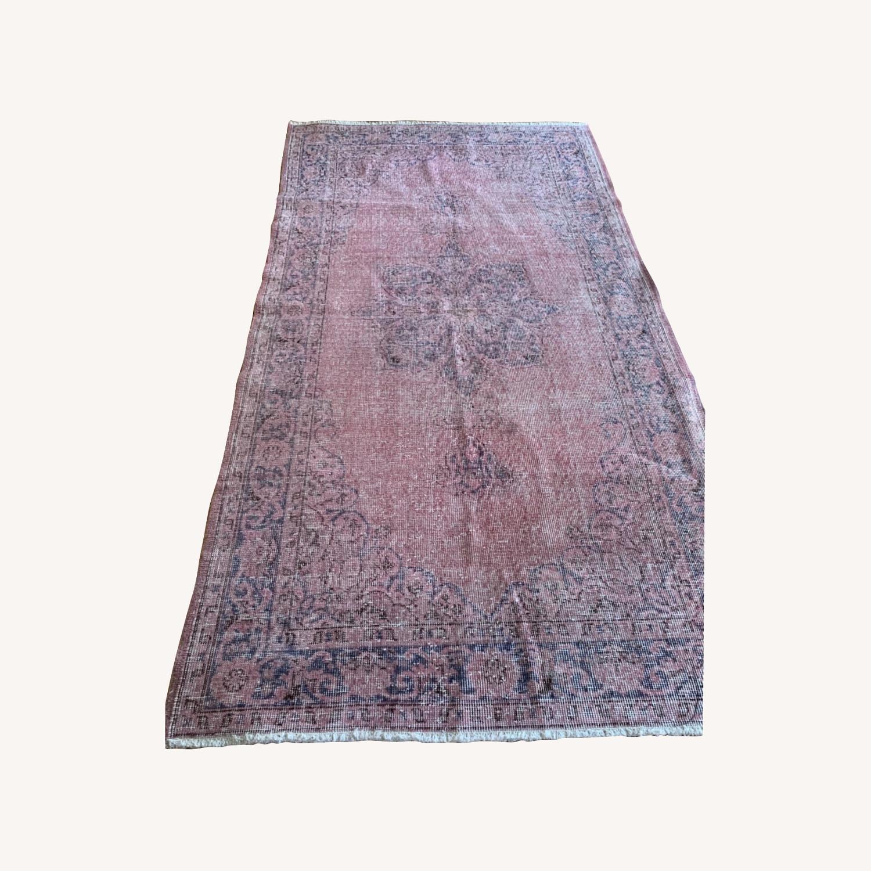 Pink Anatolian Antique Rug - image-0