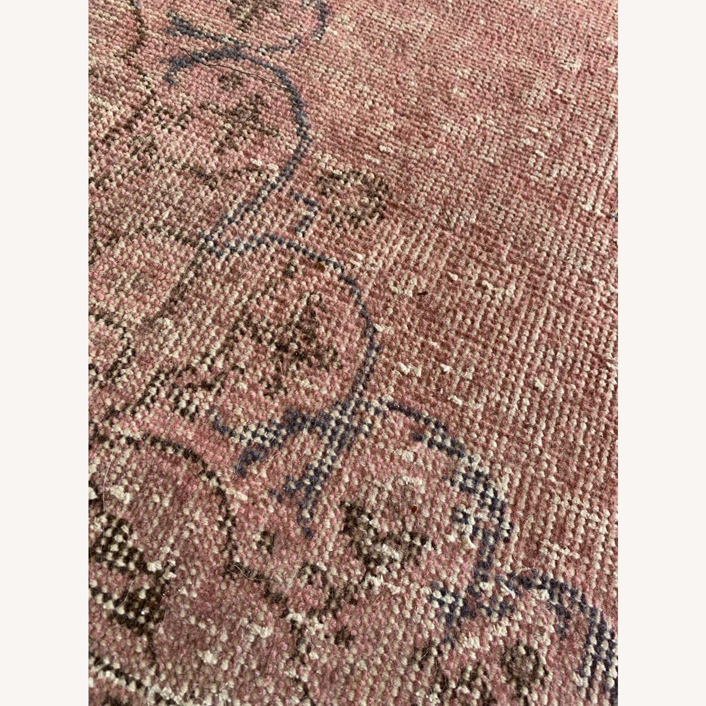 Pink Anatolian Antique Rug - image-3