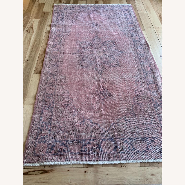 Pink Anatolian Antique Rug - image-5