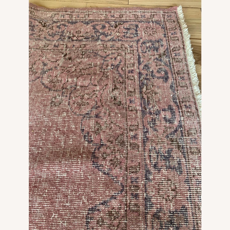 Pink Anatolian Antique Rug - image-1