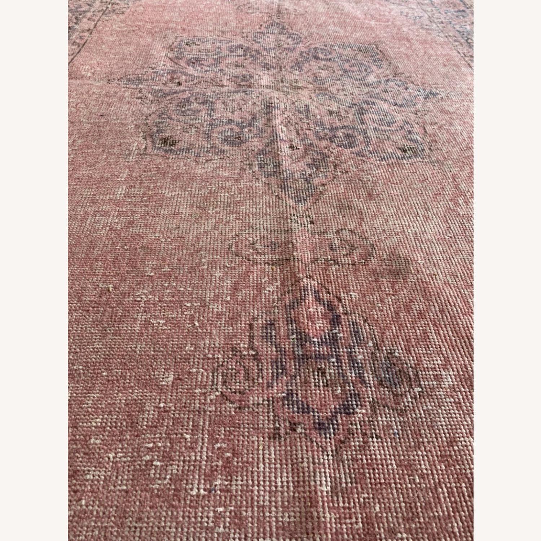 Pink Anatolian Antique Rug - image-4