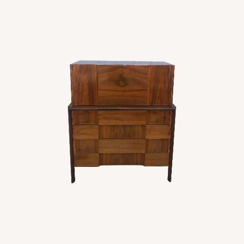 Used Mid Century Brutalist Style Highboy Dresser for sale on AptDeco