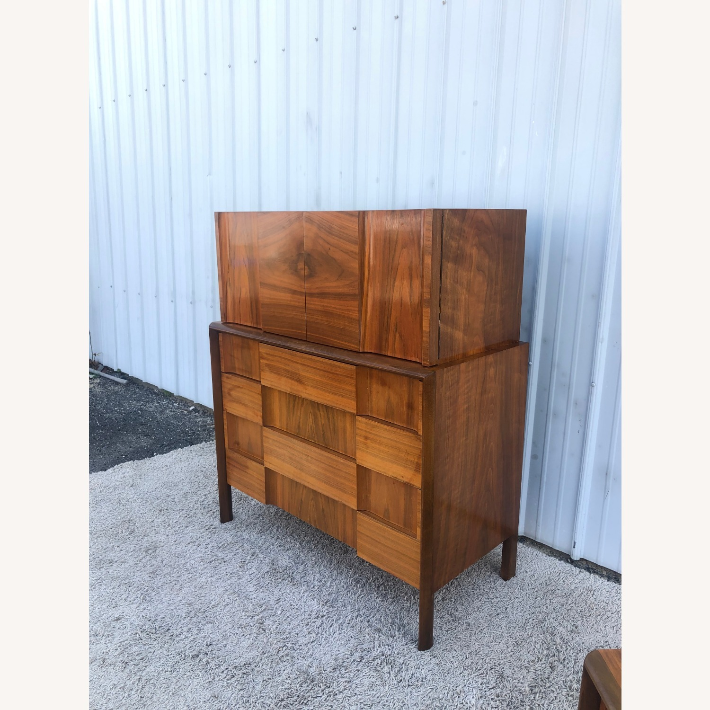 Mid Century Brutalist Style Highboy Dresser - image-3