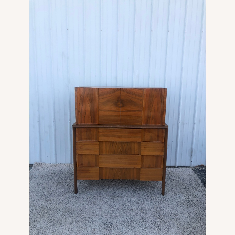 Mid Century Brutalist Style Highboy Dresser - image-2