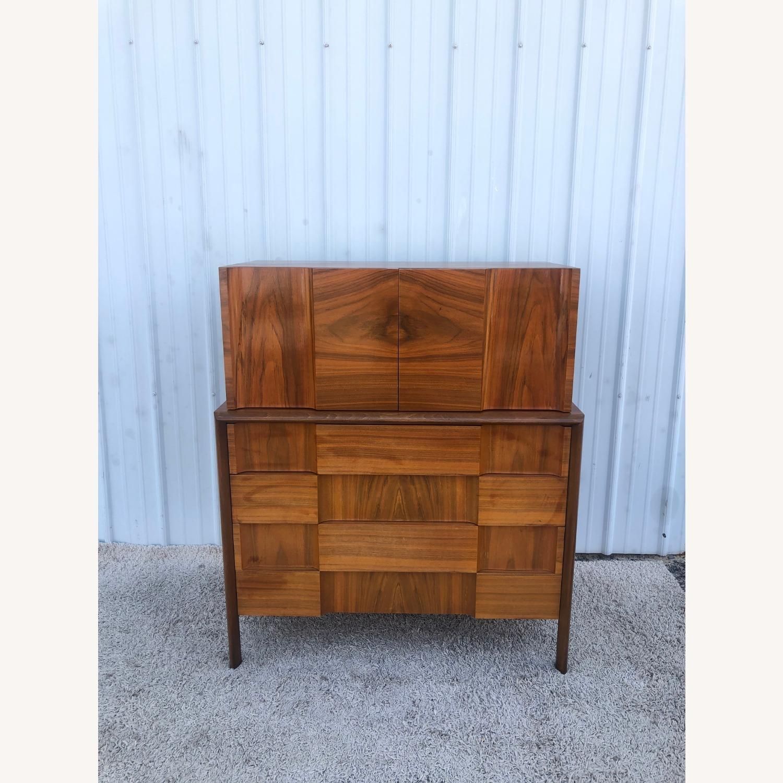 Mid Century Brutalist Style Highboy Dresser - image-15