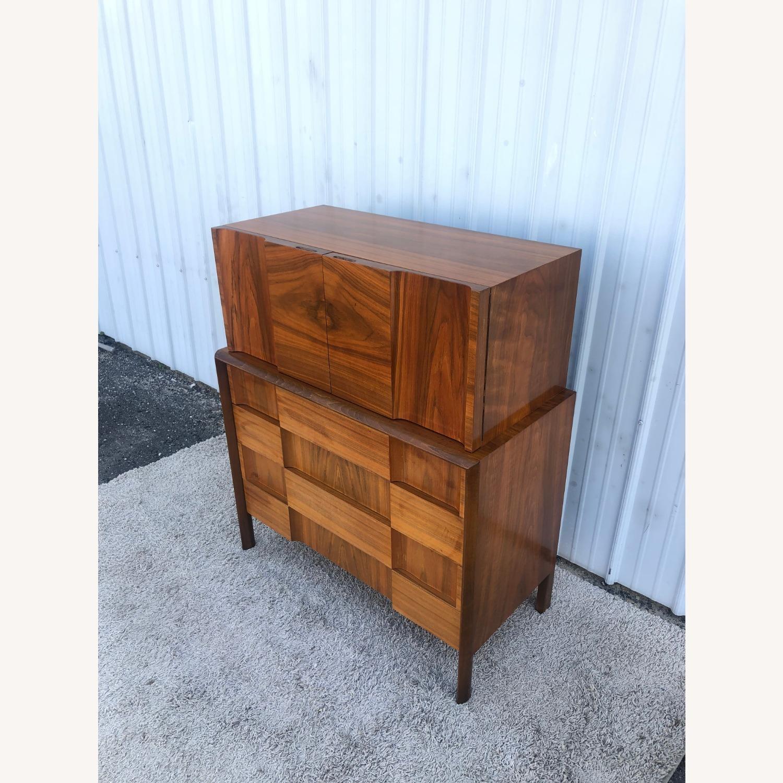 Mid Century Brutalist Style Highboy Dresser - image-4