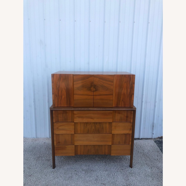 Mid Century Brutalist Style Highboy Dresser - image-8