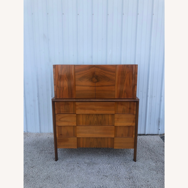 Mid Century Brutalist Style Highboy Dresser - image-16