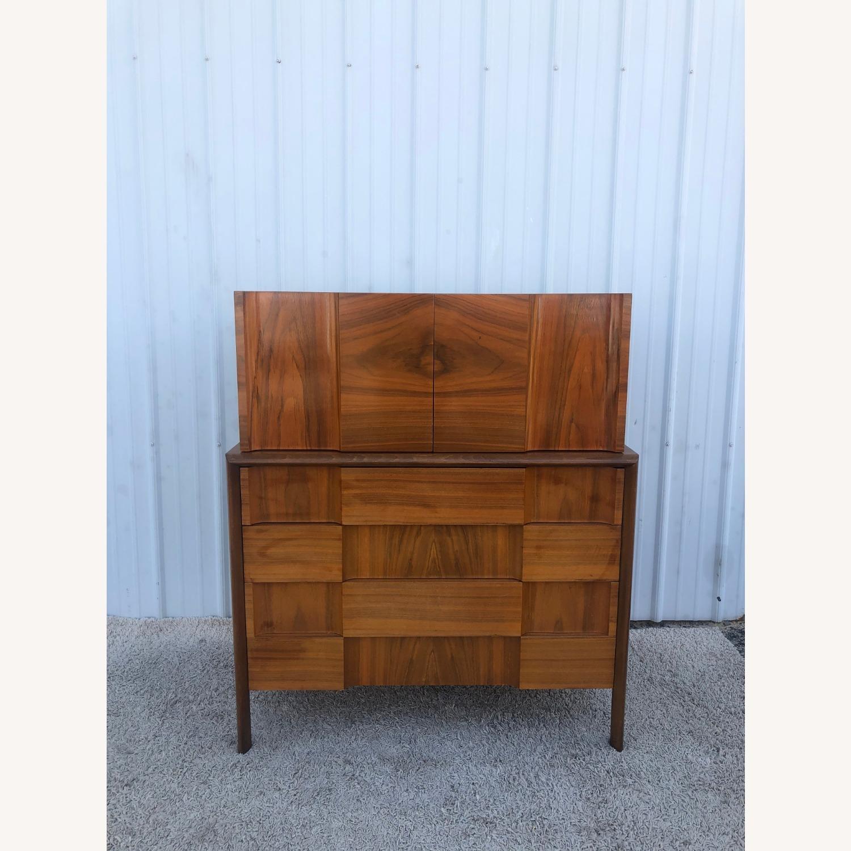 Mid Century Brutalist Style Highboy Dresser - image-7