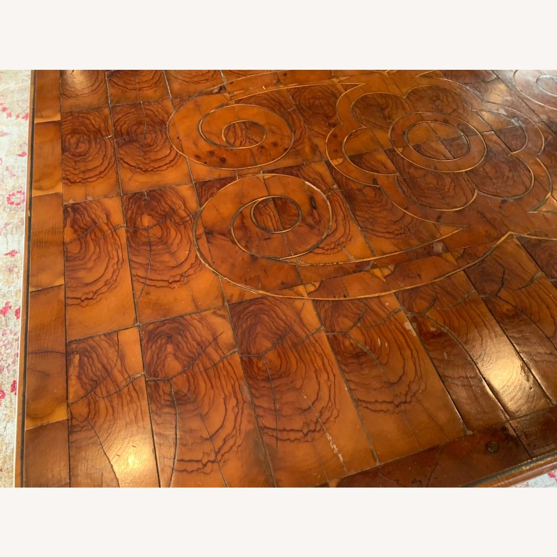Inlaid Wood Coffee Table w/ storage drawer - image-4