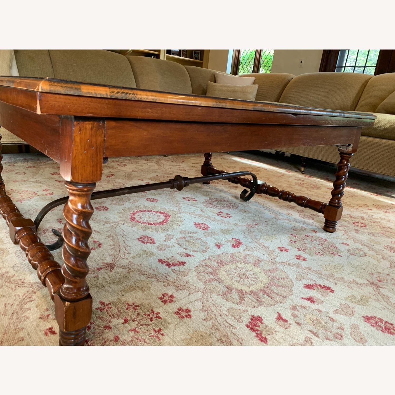 Inlaid Wood Coffee Table w/ storage drawer - image-5