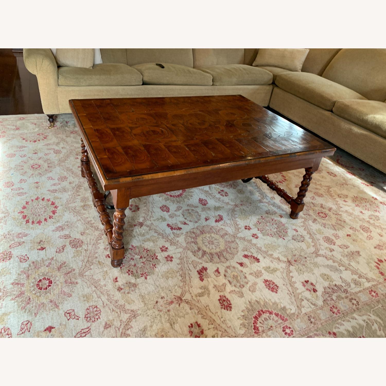 Inlaid Wood Coffee Table w/ storage drawer - image-3