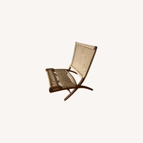 Used Vintage Wegner Style, Yugoslavian Folding Chair for sale on AptDeco