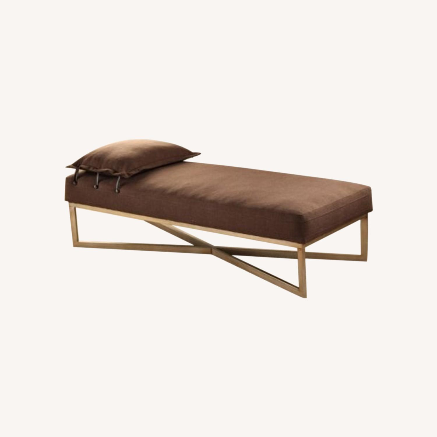 Brown Contemporary Day Bed - image-0