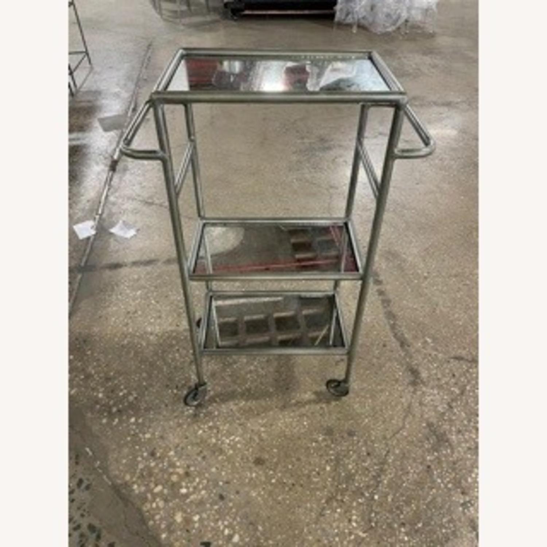 Iron and Antique Mirror Bar Cart - image-2