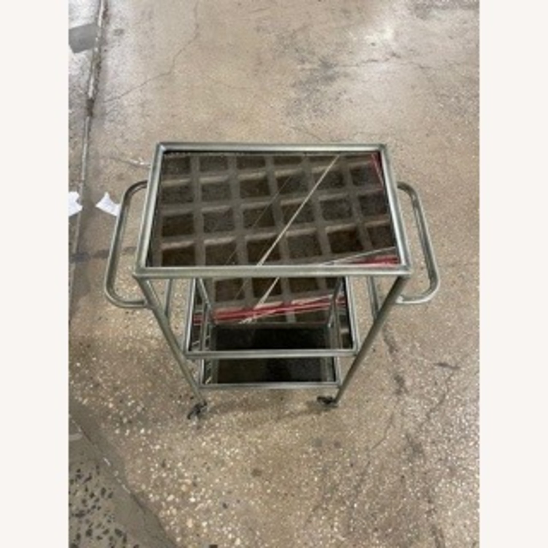 Iron and Antique Mirror Bar Cart - image-3