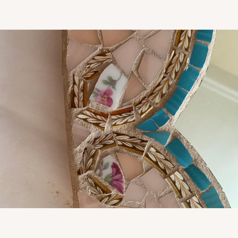 Lovely Italian Mosaic MIRROR, Curvy, soft pink - image-7