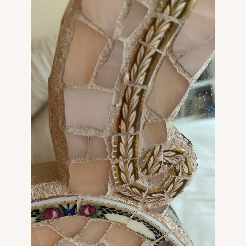 Lovely Italian Mosaic MIRROR, Curvy, soft pink - image-2