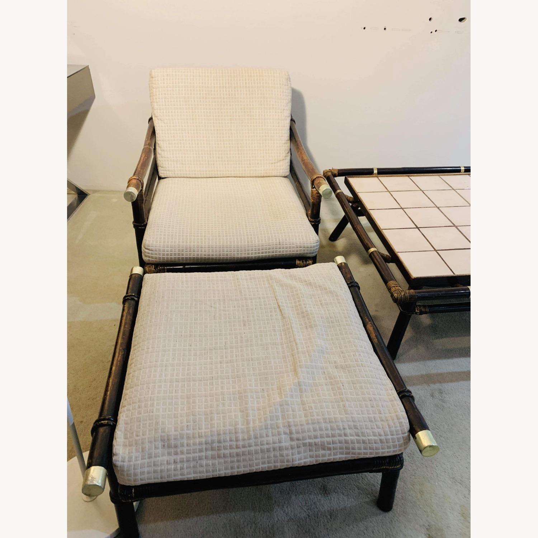 Ficks Reed Rattan Lounge Club Chair w/ Ottoman - image-9