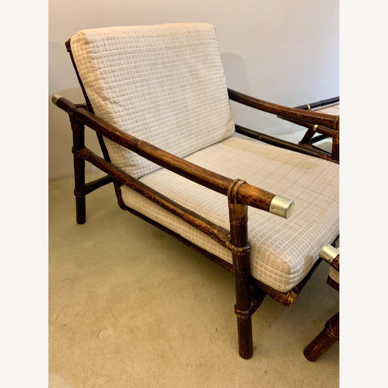 Ficks Reed Rattan Lounge Club Chair w/ Ottoman - image-8