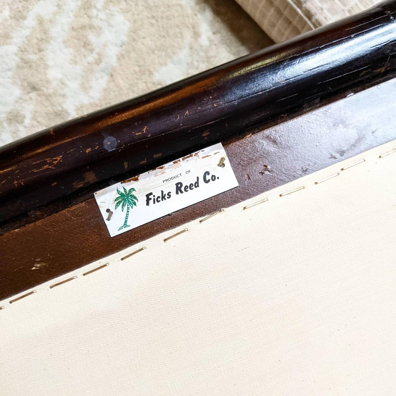 Ficks Reed Rattan Lounge Club Chair w/ Ottoman - image-2