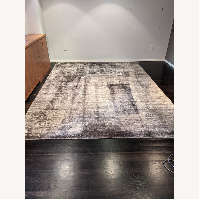 ABC Carpet & Home Ivory/Grey Wool Rug - image-9